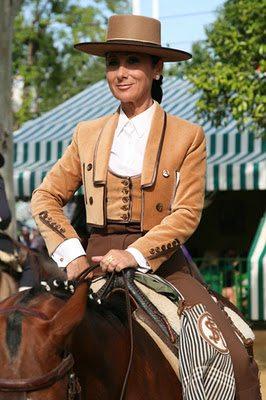 A Very Poised Lady On Horseback