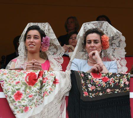 Aristocratic Ladies in Mantillas