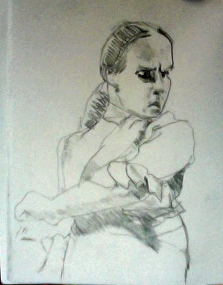 Colin's Sketch Of A Flamenco Dancer