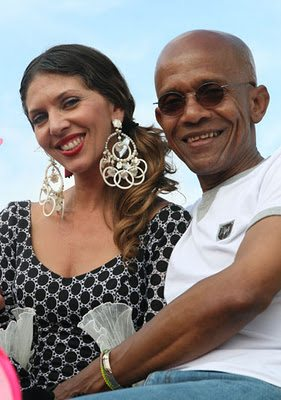 Cuban Man And Lady With Giant Earrings