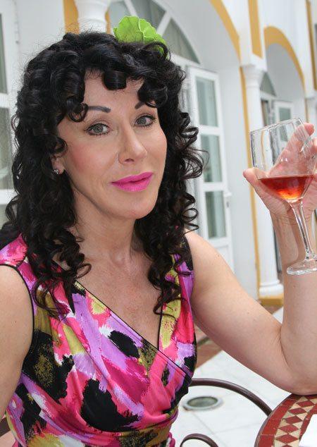 Helen Drinking Wine