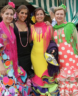 Ladies In A Riot Of Colour