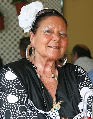 Lady With Big Earrings And A Large Nose