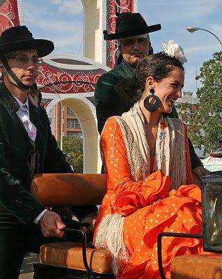 Laughing Lady In Orange Dress
