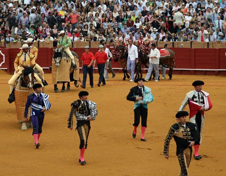 The Bullfighters Enter The Ring
