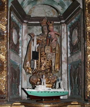 The Virgen Del Carmen, Patron Saint Of Seamen
