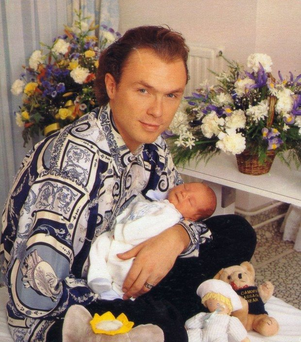 Gary Kemp In Ee Shirt With His Baby