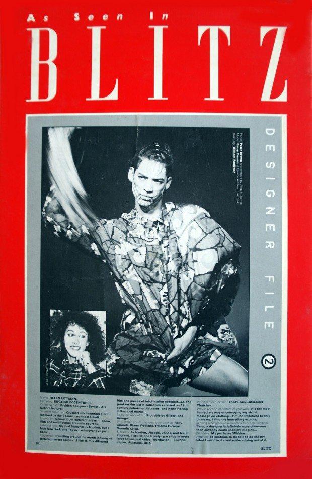 Gaudi Print shirt - Blitz Magazine - SS 1985