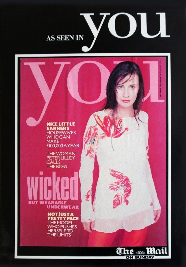 Tulip Devore Tunic - You Magazine - SS 1996