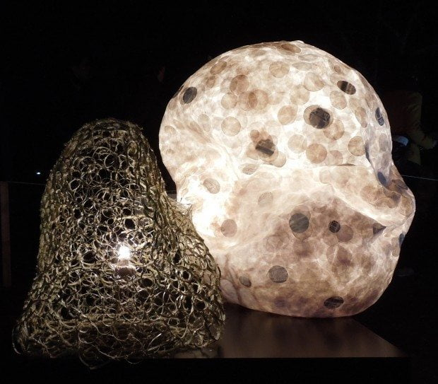 Contemporary Organic Shaped Lantern
