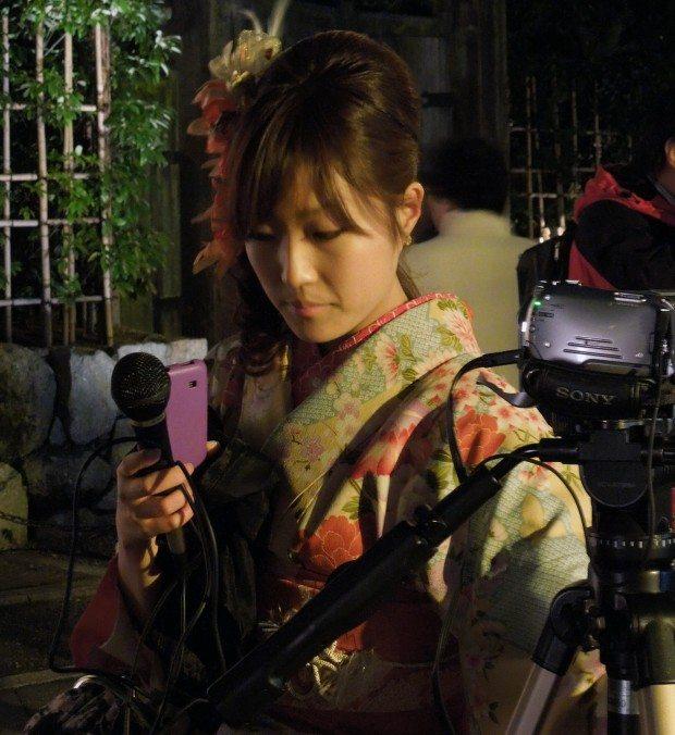 Kimono Clad News Anchor
