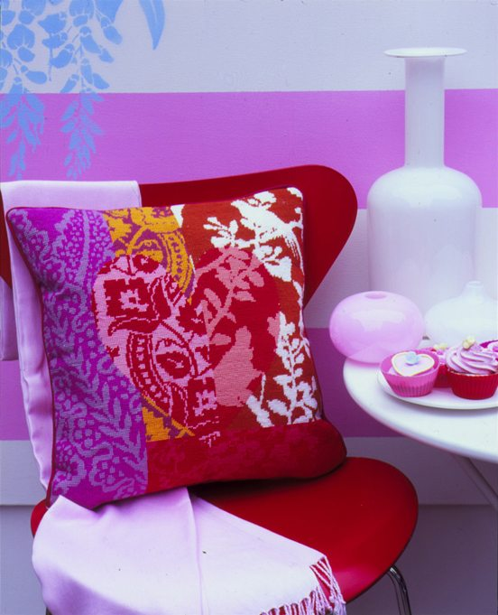 Patchwork Heart - Red