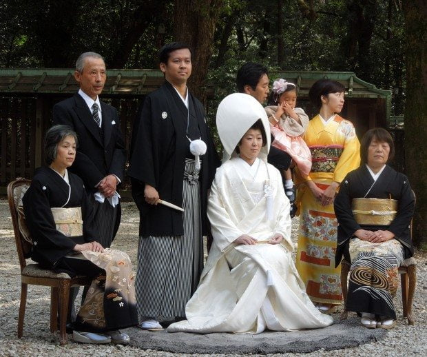 Traditional Japanese Wedding Group