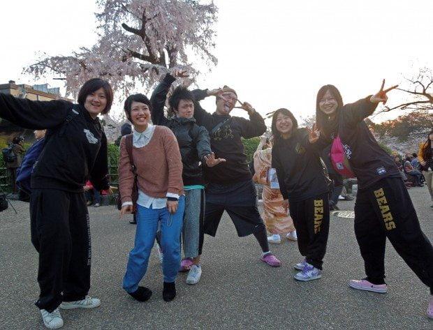 Teenagers at Maruyama Park