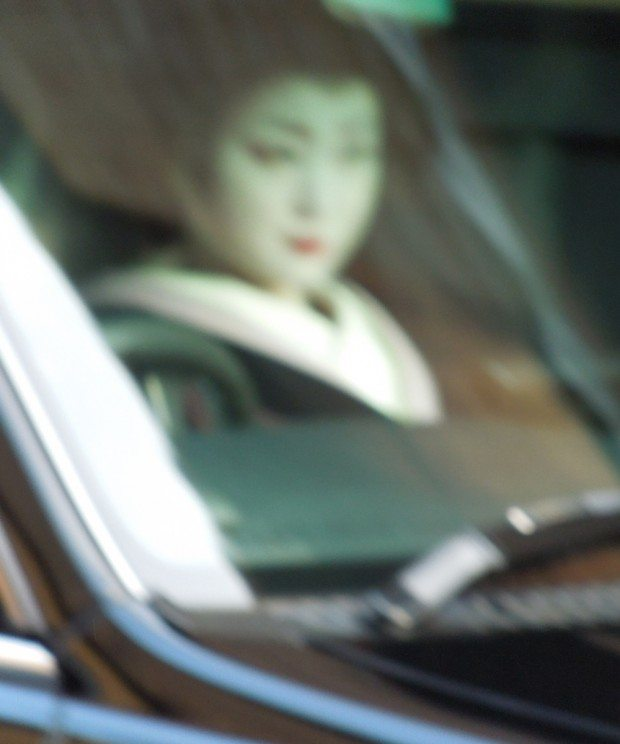 Maiko being Driven to Appointment