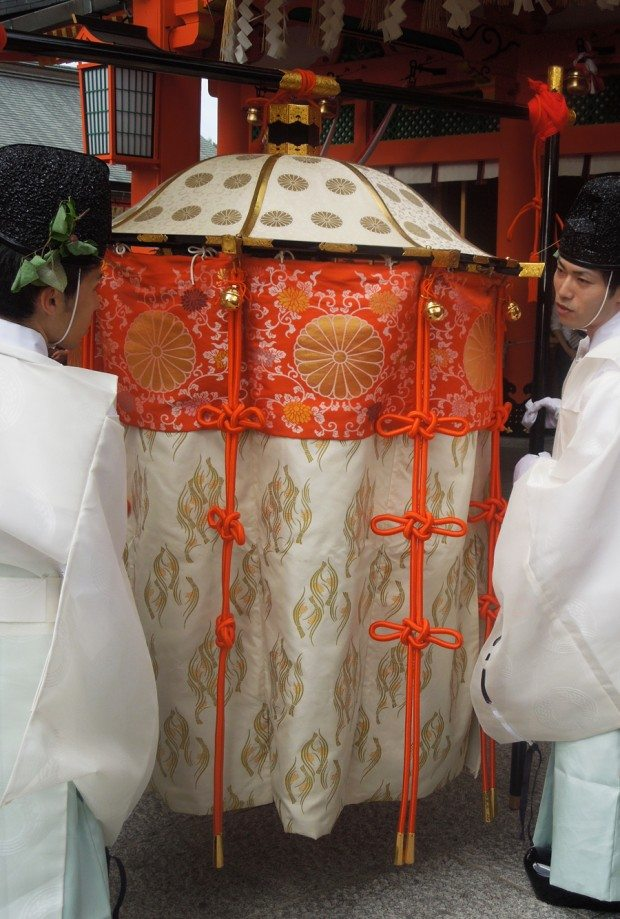 Protective cover for the shrine Deity at Inari