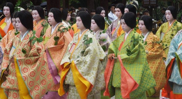 Patterned robes of the Saio-Dai's ladies