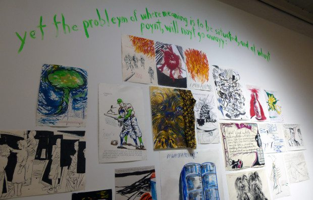 NEW YORK ART TO WIT SHOW BY RAYMOND PETTIBON