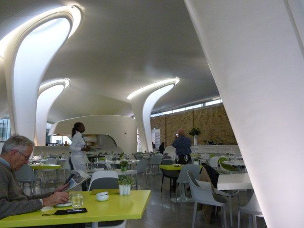 Zaha Hadid cafe at the Magazine, Serpentine Gallery