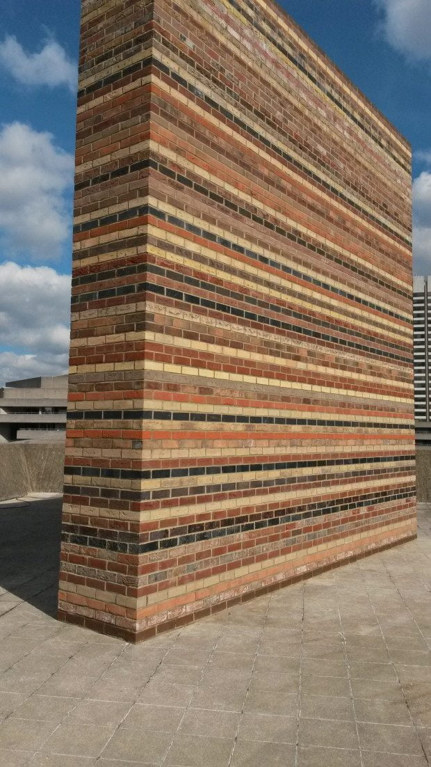 13 Martin Creed at the Hayward Multi coloured brick wall
