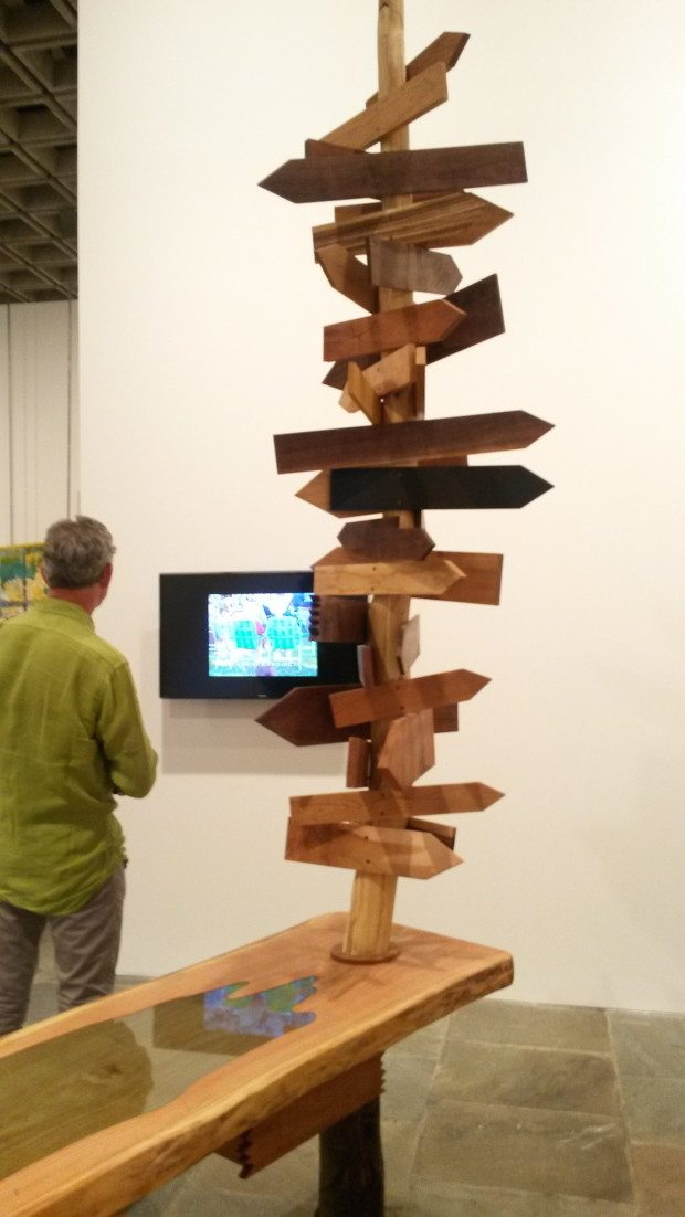 27 Whitney Biennial totem and video