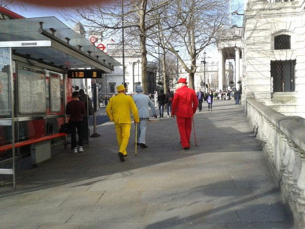 5 Suits you Sir...Colour ful men in London