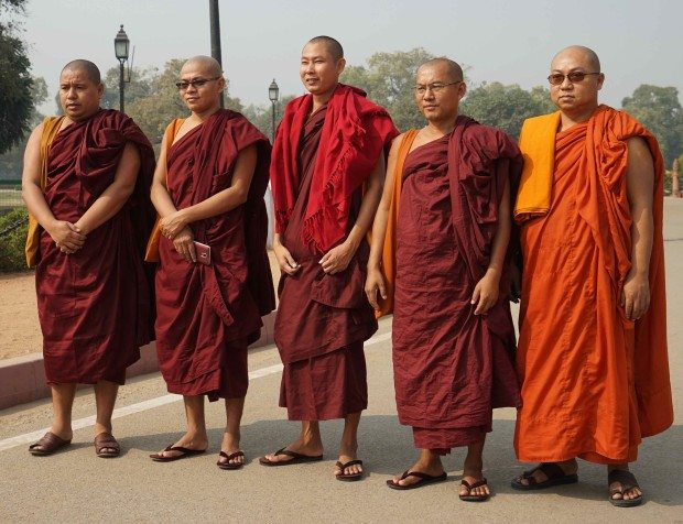 India Gate - Buddhist Monks