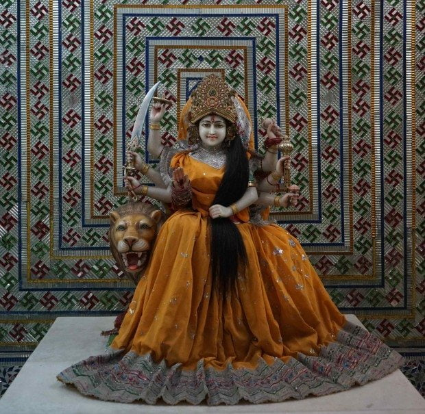 Pawan Dham - Durga and Lion
