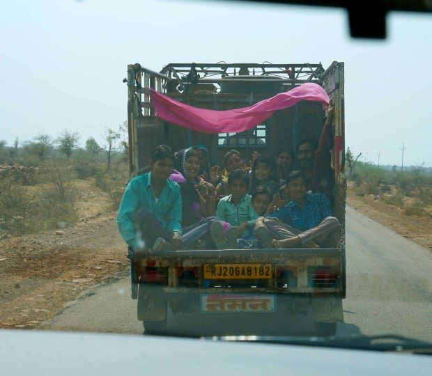 Rural Rajasthan - The Truck in Front