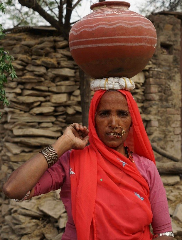 Village Woman With Water Pot