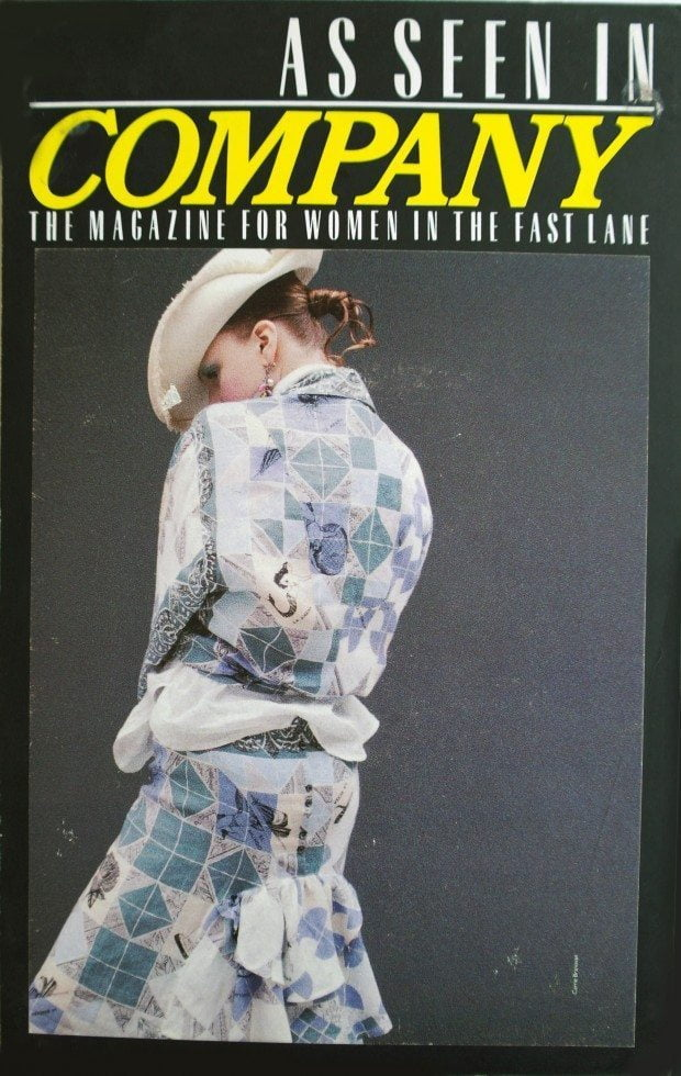 Patchwork Print Linen Shirt and skirt - Company - SS 1986