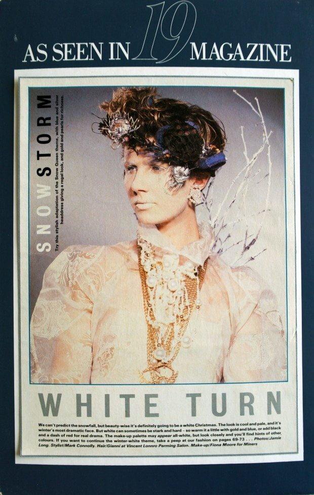 White Arctic Print Organza Coat - 19 Magazine - AW 1985