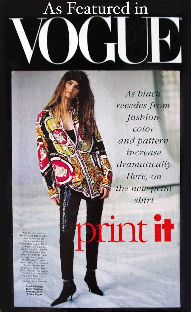 Attributes Print Silk shirt - Vogue