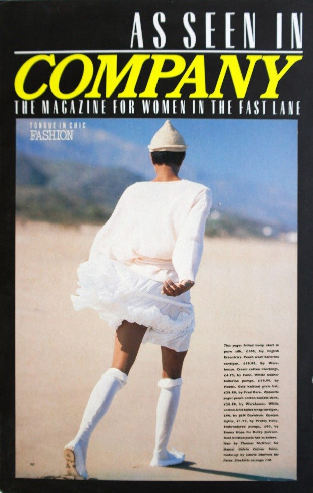 White Hoop Skirt, Freudian Slips Collection - Company - SS 1987
