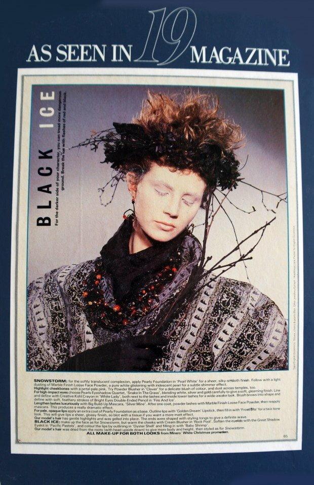 Polar bear print Evening Coat - 19 Magazine -AW1985