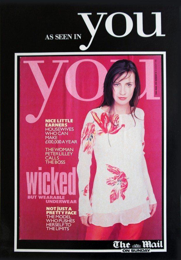 Tulip Devore Tunic - You Magazine - SS 1996