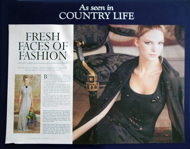 Gliter Flock Print Dress - Country Life